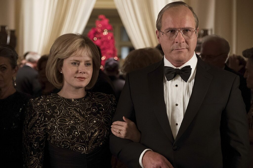 Amy Adams and Christian Bale as Lynne and Dick Cheney in Vice (2018)