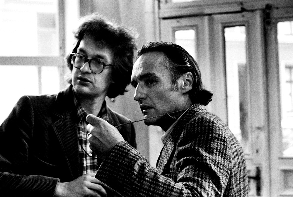 Wim Wenders and Dennis Hopper on set making The American Friend (1976)